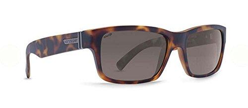 VonZipper Mens Fulton Polarized Sunglasses, Tortoise Satin w/Wildlife Vintage Grey, One - Fulton Sunglasses