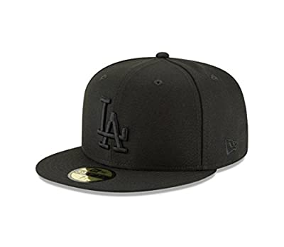 New Era 59Fifty Hat MLB Basic Los Angeles Dodgers LA Black Fitted Cap