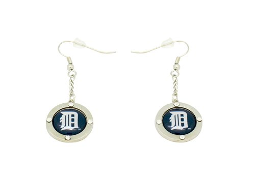 TIGERS ROUND CRYSTAL DANGLER EARRINGS ()