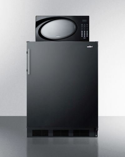 Summit Refrigerator/Microwave Stacked Combo with Single Plug Model MRF663B