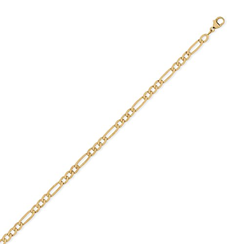 DIAMANTLY Collier or 750 cheval ultra-plate alterne 4 mm - 50 cm