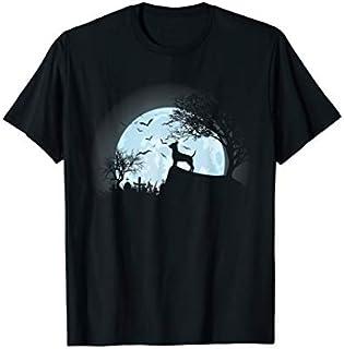 Chihuahua Dog And Moon Halloween T shirt T-shirt | Size S - 5XL