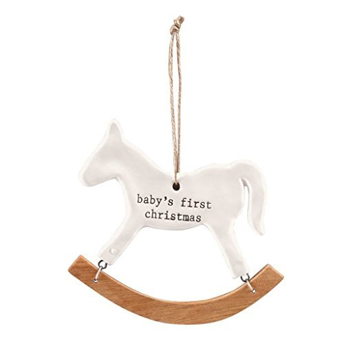 Mud Pie Merry & Bright First Christmas Baby Rocking Horse Ornament