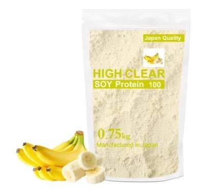 スポーツ主人苦しむHIGH CLEAR(ハイクリアー)ソイプロテイン100 リッチバナナ味 750g 30食分