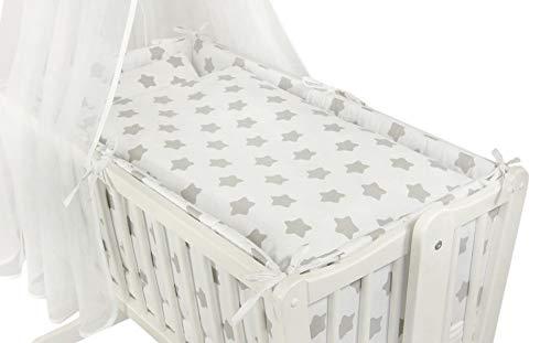 Babyhafen 6 tlg Baby Wiegenset 90x40cm Bettausstattung