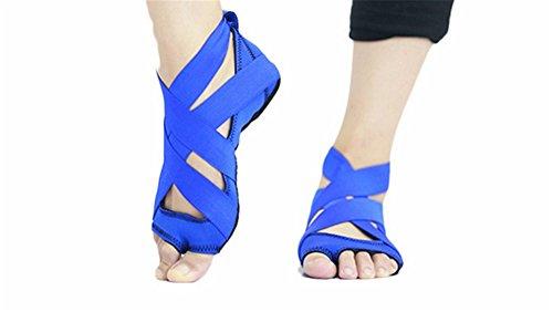 Yoga Yoga L de de Aéreos Zapatillas Calcetines M Zapatos Correas Silicona de S de Zapatillas de Yoga blue Baile XW WX 0AHxww