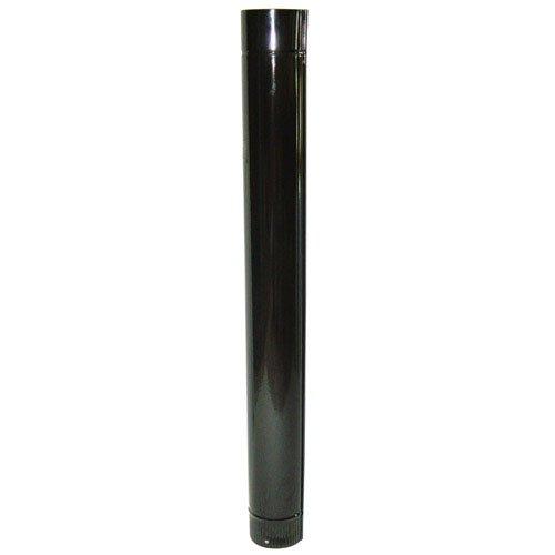 Wolfpack 22011015 Tube vitrifié pour poêle, de 120mm, Noir de 120mm