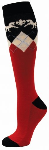 Equine Couture Hadley Socks Red/Navy