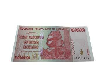 2008 ZW Zimbabwe $100 Million Dollar Banknote Circulated