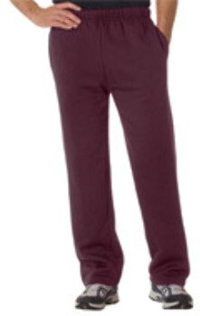 - Badger Adult Blended Open-Bottom Fleece Pants - Maroon - 4XL