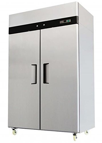 Double 2 Door Side By Side Stainless Steel Reach in Commercial Refrigerator