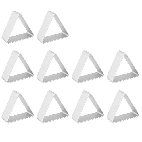 BTMB Double Sided Triangle Shape Cookie Cutter Set Aluminum Biscuits Fondant DIY Mold Cutter,Pack of 10 ()