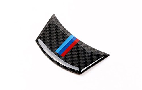 E60 Carbon (Eppar New Carbon Fiber Steering Wheel Down Sticker for BMW 5 Series E60 2004-2009 520i 523i 525i 525xi 528i 530i 530xi 540i 545i 550i)