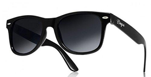 con ahumados unisex sunglasses de Negro Dope TM sol cristales ochentero negro 4sold Gafas diseño BW4YqHIn