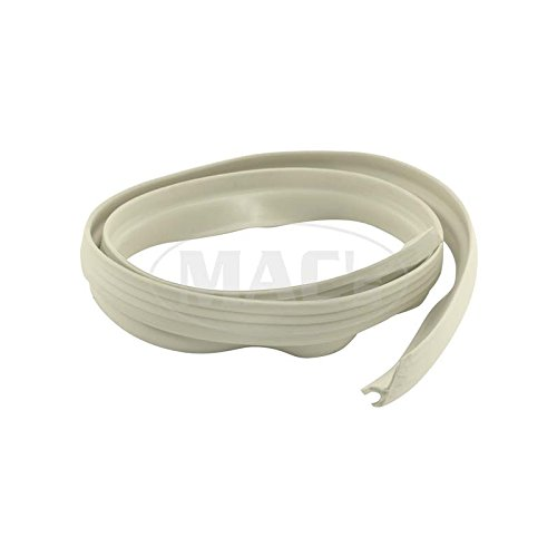 MACs Auto Parts 66-33944 - Ford Thunderbird Convertible Top Outer Front Seal, Rubber, White