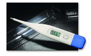 ADTEMP II Digital Thermometer, F/C, Oral, 25/pkg, Latex-Free, sell in pkg. by ADC