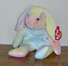 Hippie the Pastel Ty-dyed Bunny Rabbit - Ty Beanie Babies, 5