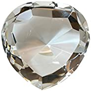80 mm Dark Blue Diamond Heart Shaped Crystal Jewel Paperweight by Tripact