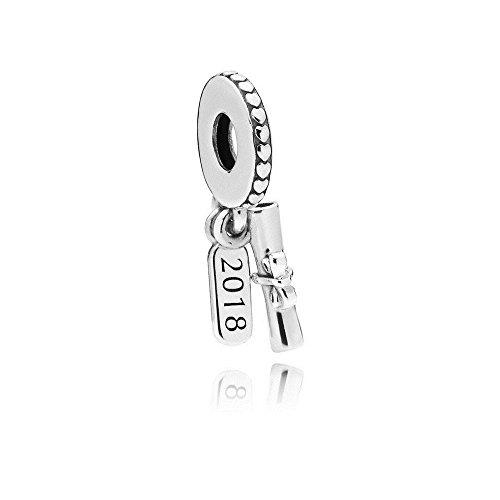 Pandora Graduation Scroll Silver Dangle Charm 797396