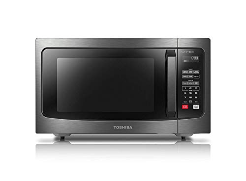 Toshiba ML-EM45PIT(BS) Microwave Oven with Inverter Technology, LCD Display and Smart Sensor, 1.6 Cu.ft, Black Stainless…
