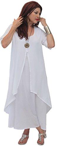 LOTUSTRADERS Damen Lagenlook Damen Kurzärmel Kleid LOTUSTRADERS Lagenlook Kleid Kleid Damen Kurzärmel Kurzärmel LOTUSTRADERS Lagenlook LOTUSTRADERS w7qwxT