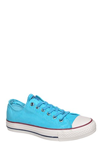 Converse Womens Chuck Taylor Washed Low Top Sneaker Peacock Blue Wash 6 M by Converse