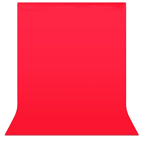 Neewer 6 x 9 ft/1.8 x 2.8M Photo Studio 100% Pure Muslin Collapsible Backdrop Background for Photography, Video and Television (Background Only)-Red
