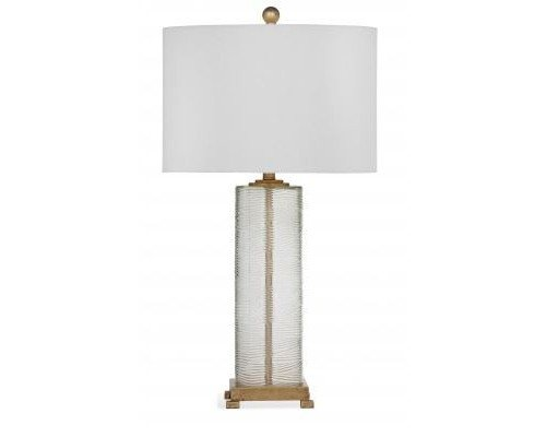Bassett Mirror Company Maroa 35 Inch Gold And Clear Glass Table Lamp