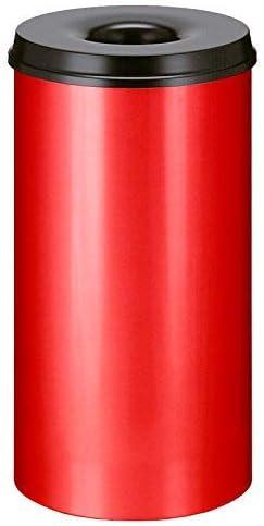 V-Part VB 105000 Papelera autoextinguible 50 L Color Gris y Negro