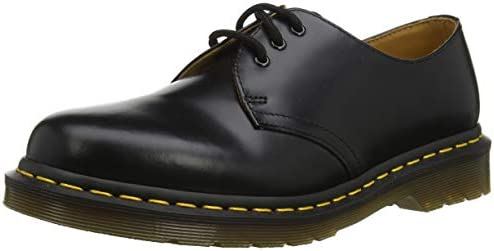 amazonka stabilna jakość przystojny Dr. Martens 1461 Black Smooth Men Black Leather Shoes, Shoe ...