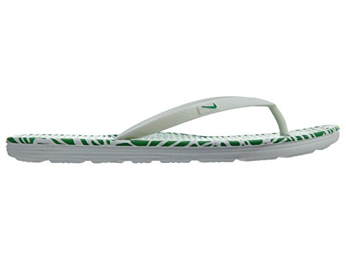 NIKE Print Bathing White Spring Thong Leaf Blanco Women's 2 WMNS Solarsoft Sandals 6rOF1a6