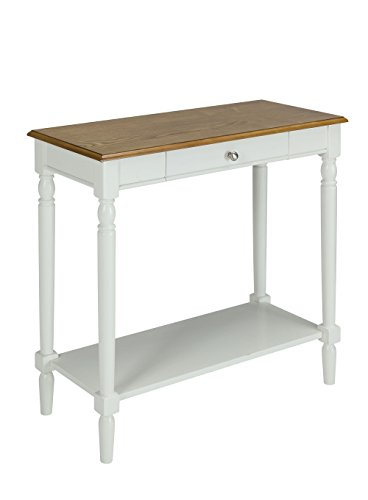 Cheap Convenience Concepts 6042188RO French Country Hallway Table, Rustic Oak/White