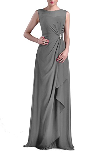 VaniaDress Women Sheer Neck Long Evening Dress Formal Gowns V093LF Dark Grey US22W