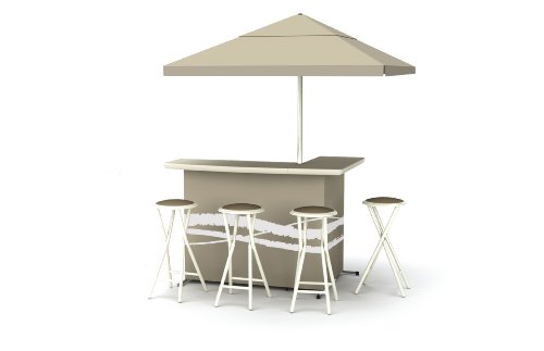 Best of Times Patio Bar and Tailgating Center Deluxe Package- Classic Tan (Set Bar Portable Tailgate)