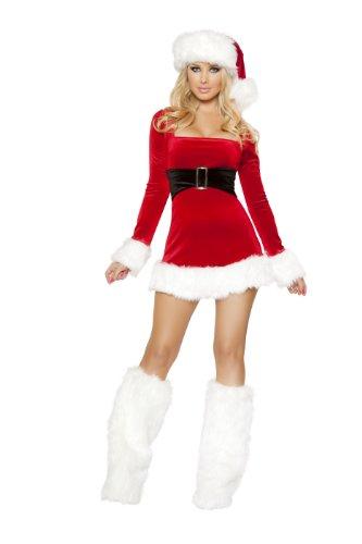 Sexy Santas Saint Womens Adult Costumes - Roma Costume Women's 1 Piece Santa's