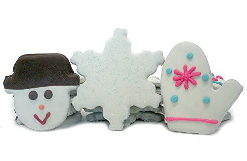 Tail Bangers All Natural, Human Grade Dog Treats Cookie Assortment - 18 Cookies (Winter)
