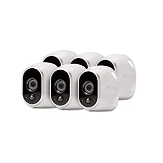 Arlo - Wireless Home Security Camera System with Motion Detection | Night vision, Indoor/Outdoor, HD Video, Wall Mount | Cloud Storage Included | 6 camera kit - Eco Packaging (VMS3630B)