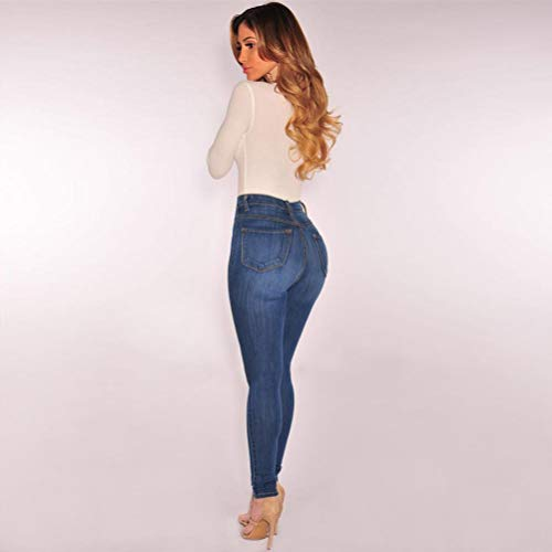 Alta Elastici Vita jeans Skinny A Con Elasticizzato Rotti Sexy Blu Attillati Ningsun pantaloni Jeans Donna Slim Fit Pantaloni vnPE8waU