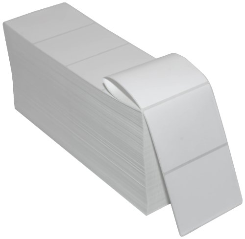 Compulabel 670072 Thermal Transfer Shipping Labels, 4 inch x 3 inch, White, Fanfold, Permanent Adhesive, Perforations Between Labels, 3776 Per Carton