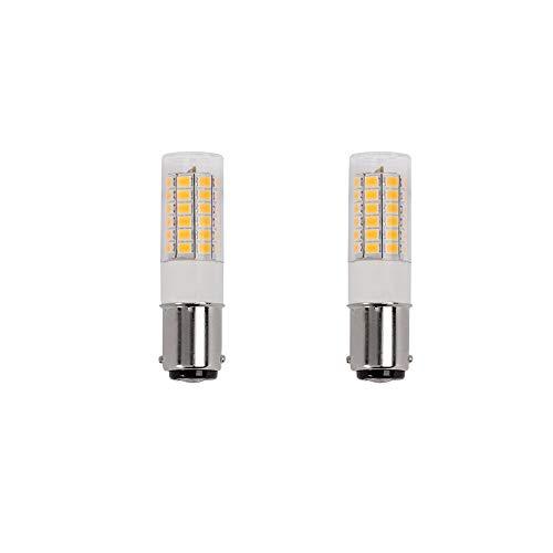 (Makergroup 1076 1004 1142 BA15D S8 DC Bayonet Double Contact Base LED Light Bulbs for Boat Marine Lights, RV Camper Trailer Automotive Light Bulbs, Works on 12V&24V, Cool White 2-Pack )