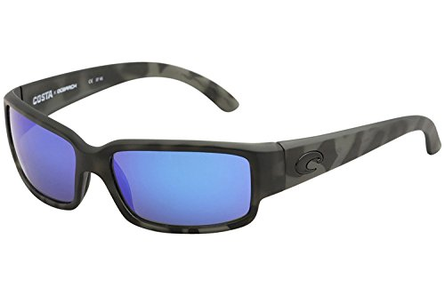 Costa Del Mar Ocearch Caballito Sunglasses Tiger Shark/Blue Mirror 580Glass (Frank Wire)