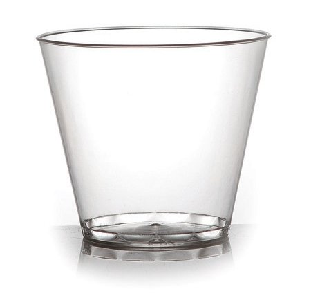 Fineline Hard Plastic Tumblers, 9 oz Clear Cups, Old Fashioned, Elegant Party Glasses, 80-piece Package by Fine-line
