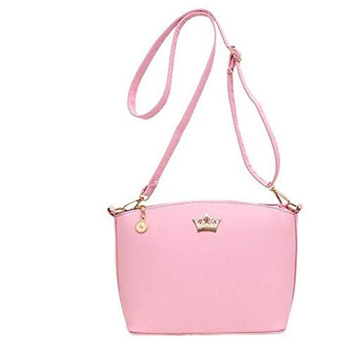 Eeayyygch Handbags Crown Bags Mujeres color Shoulder Party Rosado rosa Messenger Tamaño Rosado Imperial Purse rEEqZx