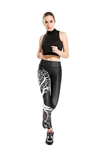 ZHLONG Secas de yoga pantalones ajustados de Súper, Primavera / verano de la manera Productos Salud pantalones de chándal-absorbentes transpirables Deportes impresión nueve minutos de pantalones yoga-0009