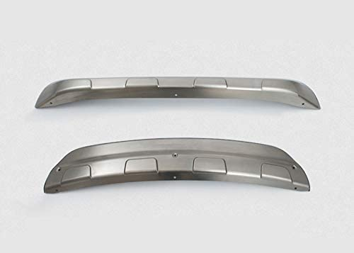Autohelper Protezione per paraurti anteriore in lamiera di acciaio inox anteriore e posteriore