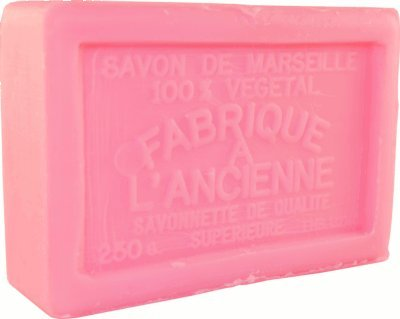 Savon de Marseille (Marseilles Soap) - Rose Soap Bar 250g - Handcrafted pure French milled soap