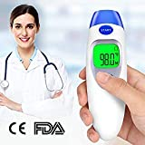 Fitnate Medical Forehead and Ear Thermometer Infrared Digital Ear Thermometer Baby Ear Thermometer,Non Invasive Instant Read Thermometer with FDA and CE Approved Suitable for all Ages