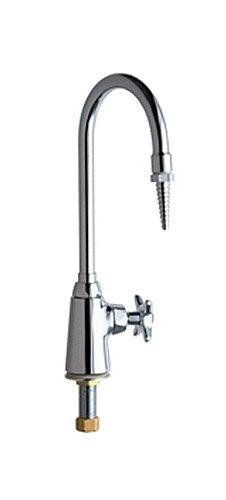 Chicago Faucets 927-CP Deck Mount Laboratory Water Fitting, Chrome (Deck Nozzle Gooseneck Faucet Mount)