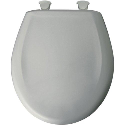 Bemis 200SLOWT 062 Lift-Off Plastic Round Slow-Close Toilet Seat, one-size, Ice Grey