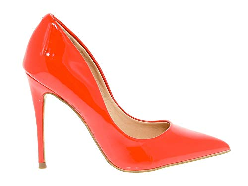 pelle Steve Madden in verniciata pumps Red Daisiered Donna wzYqxpzOa